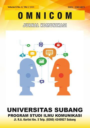 OMNICOM Jurnal Ilmu Komunikasi # Vol.6 No.1 Mei 2020