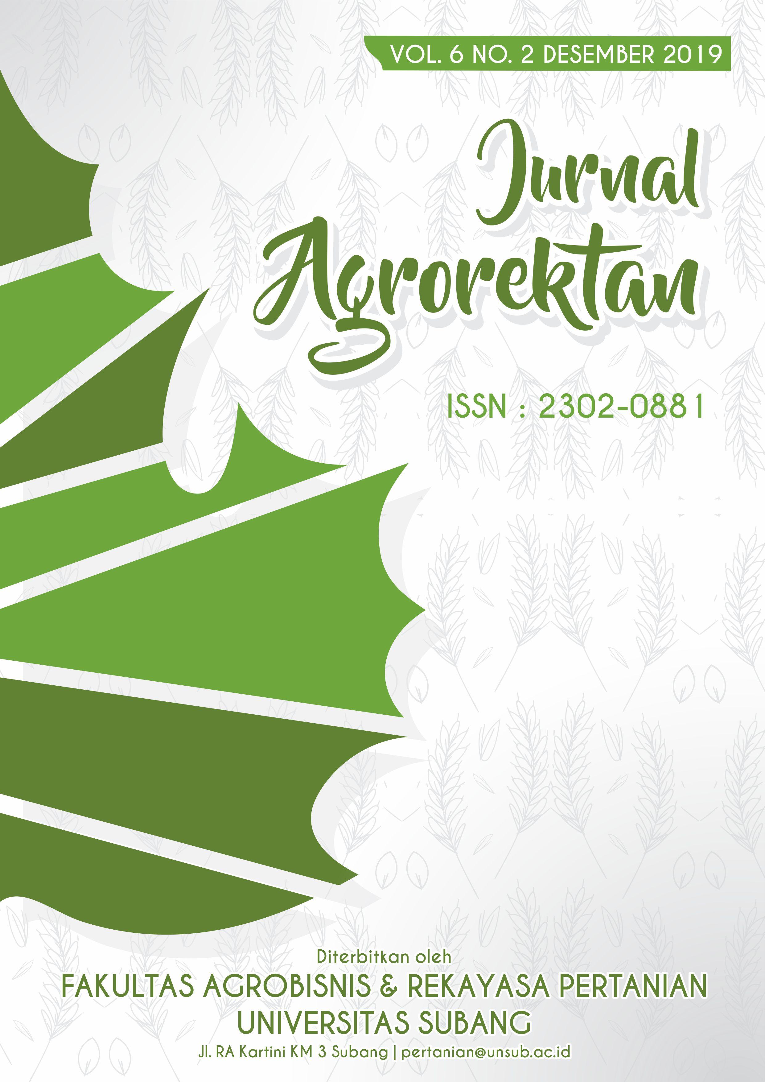 View Vol. 6 No. 2 (2019): Jurnal Agrorektan